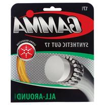 Gamma Synthetic Gut 17G Tennis String, Gold