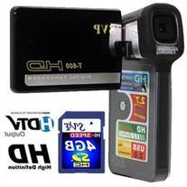 SVP T-600 HD-High Definition 720p Digital Video Camcorder/8.