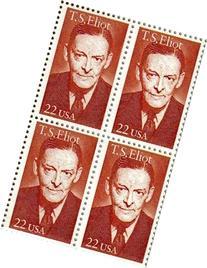 T. S. ELIOT ~ POET #2239 Block of 4 x 22 cents US Postage