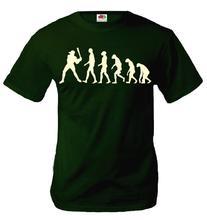 buXsbaum T-Shirt The Evolution of baseball-S-Bottlegreen-