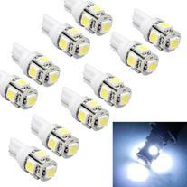 Suppion 10pcs T10 Wedge 5-SMD 5050 Xenon LED Light bulbs 192