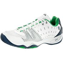 Prince Mens T22 Tennis Sneaker Shoes, White/Blue/Green, US