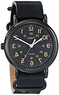 "Timex Unisex T2P4949J ""Weekender"" Watch with Black Leather"