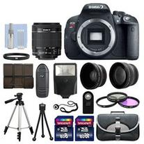Canon T5i / 700D Digital SLR Camera + 3 Lens Kit 18-55mm STM