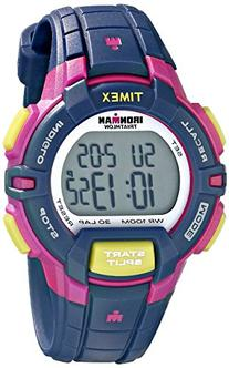 Timex Women's T5K813 Ironman Rugged 30 Mid-Size Blue/Pink