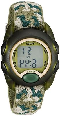 Timex Kids T71912 Green Camouflage Digital Watch with