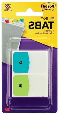 Post-it Tabs, Pre-Printed Letters, Assorted Colors, 1 Inch X