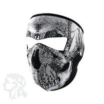 Tactical Airsoft Neoprene Skull Full Face Mask - Black &