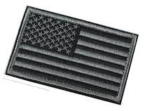Horizon Tactical USA Flag Patch - Black Grey USA