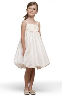 Girl's Us Angels Taffeta Rosette Bubble Dress, Size 4 -