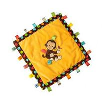 Taggies Monkey Blanket: Taggies Ribboned Border, Soft Satin