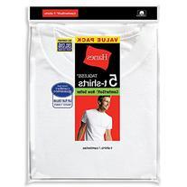 Hanes Men's White TAGLESS® Crewneck Undershirt 5-Pack
