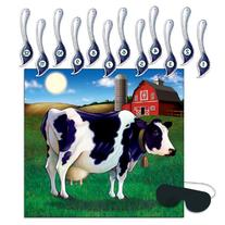 Beistle 66676 Pin The Tail on The Cow Game, 17-Inch by 18-1/
