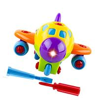 WolVol Take-A-Part Toy Airplane with Lights and Sounds for