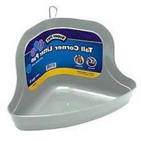 Kaytee Tall Corner Litter Pan with Quick Lock, Color Varies