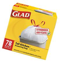 Glad Tall Kitchen Drawstring Garbage Bags, 78 Count