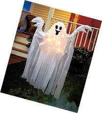 4 Ft Tall Lighted Spooky Halloween Stake Ghost Haunted House