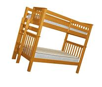Bedz King Tall Mission Style Bunk Bed Twin over Twin with