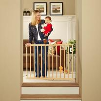 "North States Tall Stairway Swing Gate 28""-42"", Top of Stairs"