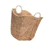 Household Essentials Tall Water Hyacinth Wicker Basket with