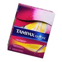 Tampax Tampons With Radiant Plastic Applicators, Unscented,