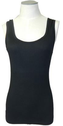 Three Dots Women's Tank Top,Large,Classic Black