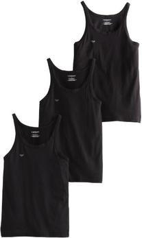 Emporio Armani Men's 3-Pack Tank Top Regular Fit, Black, X-