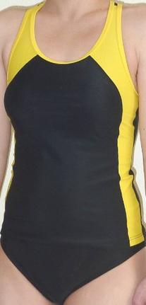 Adoretex Tankini Female - FT004 -Black/Gold - Small