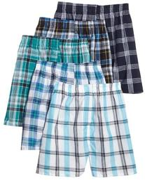 Fruit of the Loom Men's Tartan  Woven Boxer - Colors May