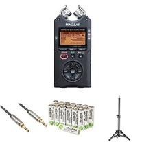 Tascam DR-40 Digital Audio Recorder Bundle with Tripod,