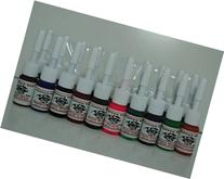 1TattooWorld OTW-C020 Premium Tattoo Ink Set, 20 Color, 5 ml