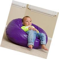 Taylor Purple Vinyl Kids Bean Bag