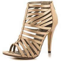 Michael Antonio Women's Tayte-Sat Dress Sandal, Champagne, 9