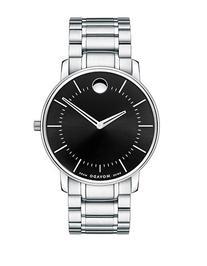 Movado Mens TC Silver-Tone Watch