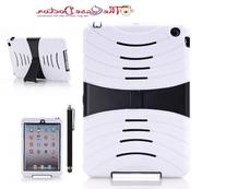 TCD White & Black iPad Mini Kick Stand Rugged Armor Hybrid