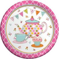 """Tea Time Dinner Plate 8.75""""  Party Supplies"""