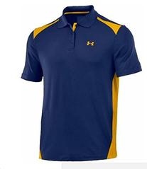 Under Armour Men's Team Colorblock Polo, Midnight Navy/