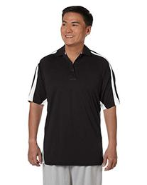 Russell Athletic Womens Team Game Day Polo  -BLACK/WHIT -3XL