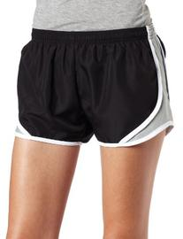 Soffe Juniors Team Shorty Short, Black/Silver, Small