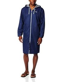Speedo Men's Team Unisex Swim Parka, Navy, Medium