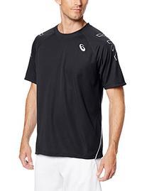 ASICS Men's Team Performance Tennis Jersey, Black/White,