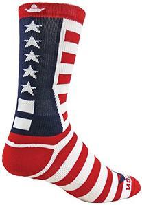 Red Lion Team USA Patriotic American Made Crew Socks