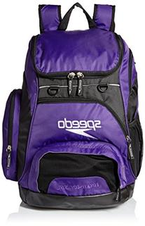 Speedo Large Teamster Backpack, Prism Purple/Black, 35-Liter