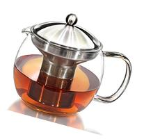 Teapot Kettle with Warmer - Tea Pot and Tea Strainer Set -