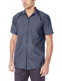 Red Kap Men's Industrial Stripe Work Shirt, Navy/Red Stripe