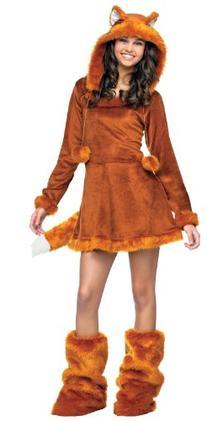 Junior Teen Girls Furry Fox Kitsune Cosplay Halloween