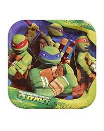Teenage Mutant Ninja Turtles 7 in Square Plate, Pack of 8,