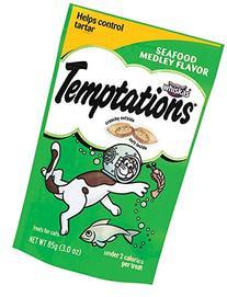 TEMPTATIONS Classic Treats for Cats Seafood Medley Flavor 3