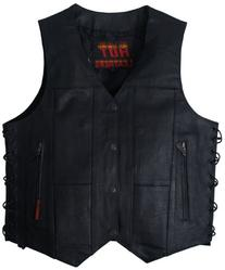 Hot Leathers Men's Ten Pocket Leather Vest