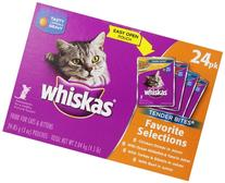 Whiskas Tender Bites Diced Variety Pack - 24 Pack